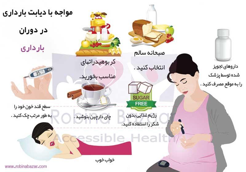 علائم دیابت بارداری و درمان دیابت بارداری