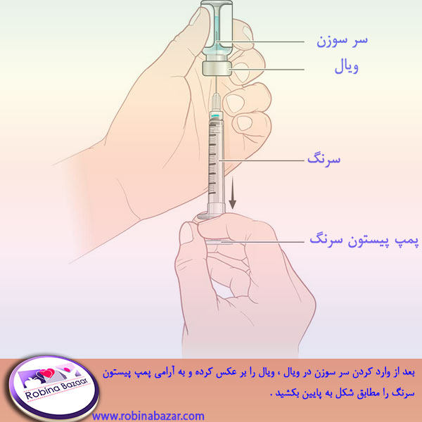 کشیدن دارو از ویال بوسیله سرنگ