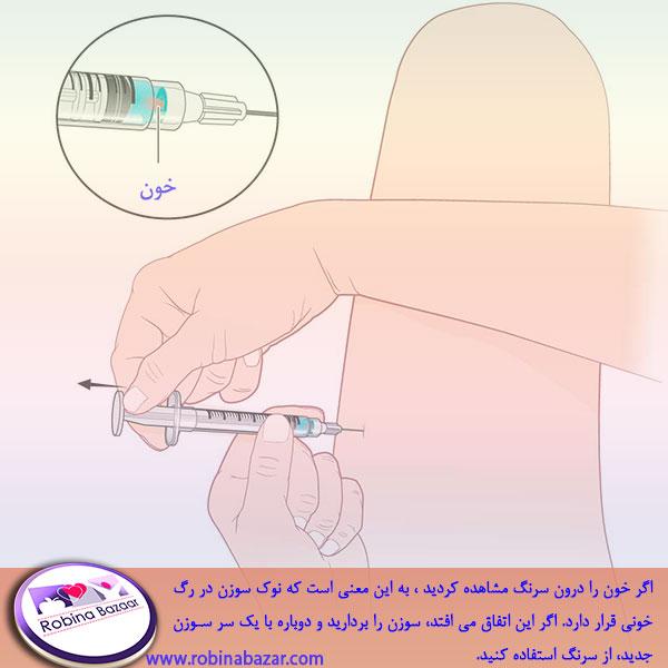 مراحل تزریق عضلانی